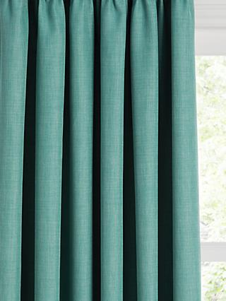 John Lewis & Partners Barathea Pair Blackout Lined Pencil Pleat Curtains