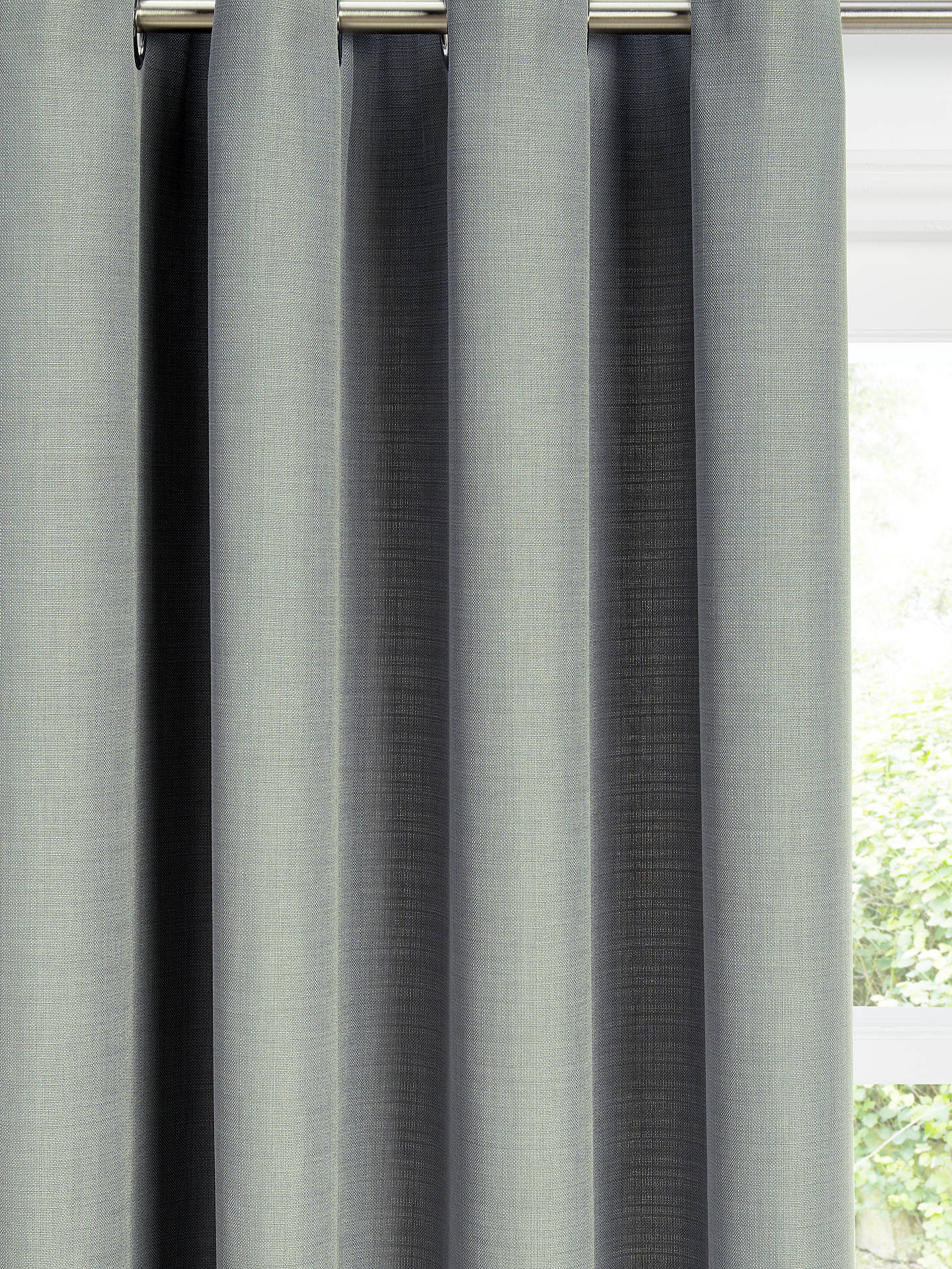 Buy John Lewis & Partners Barathea Pair Lined Eyelet Curtains, Mid Grey, W117 x Drop 137cm Online at johnlewis.com