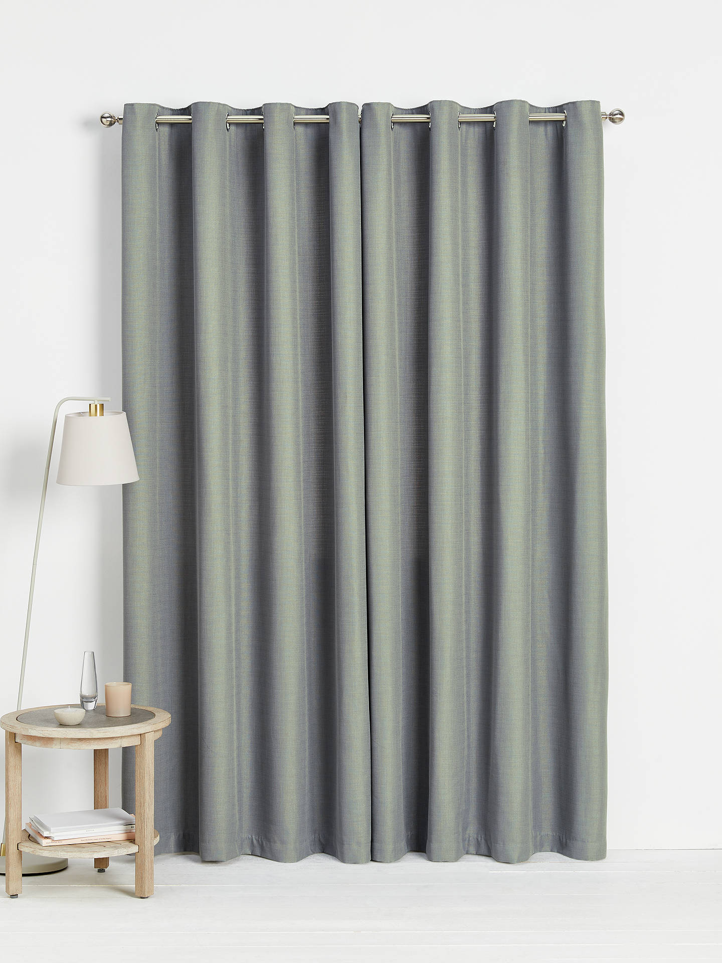 Buy John Lewis & Partners Barathea Pair Lined Eyelet Curtains, Mid Grey, W117 x Drop 228cm Online at johnlewis.com