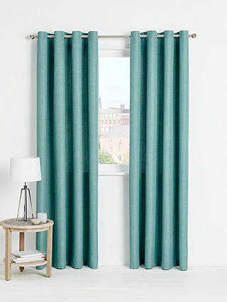 Buy John Lewis & Partners Barathea Pair Lined Eyelet Curtains, Spruce, W167 x Drop 137cm Online at johnlewis.com