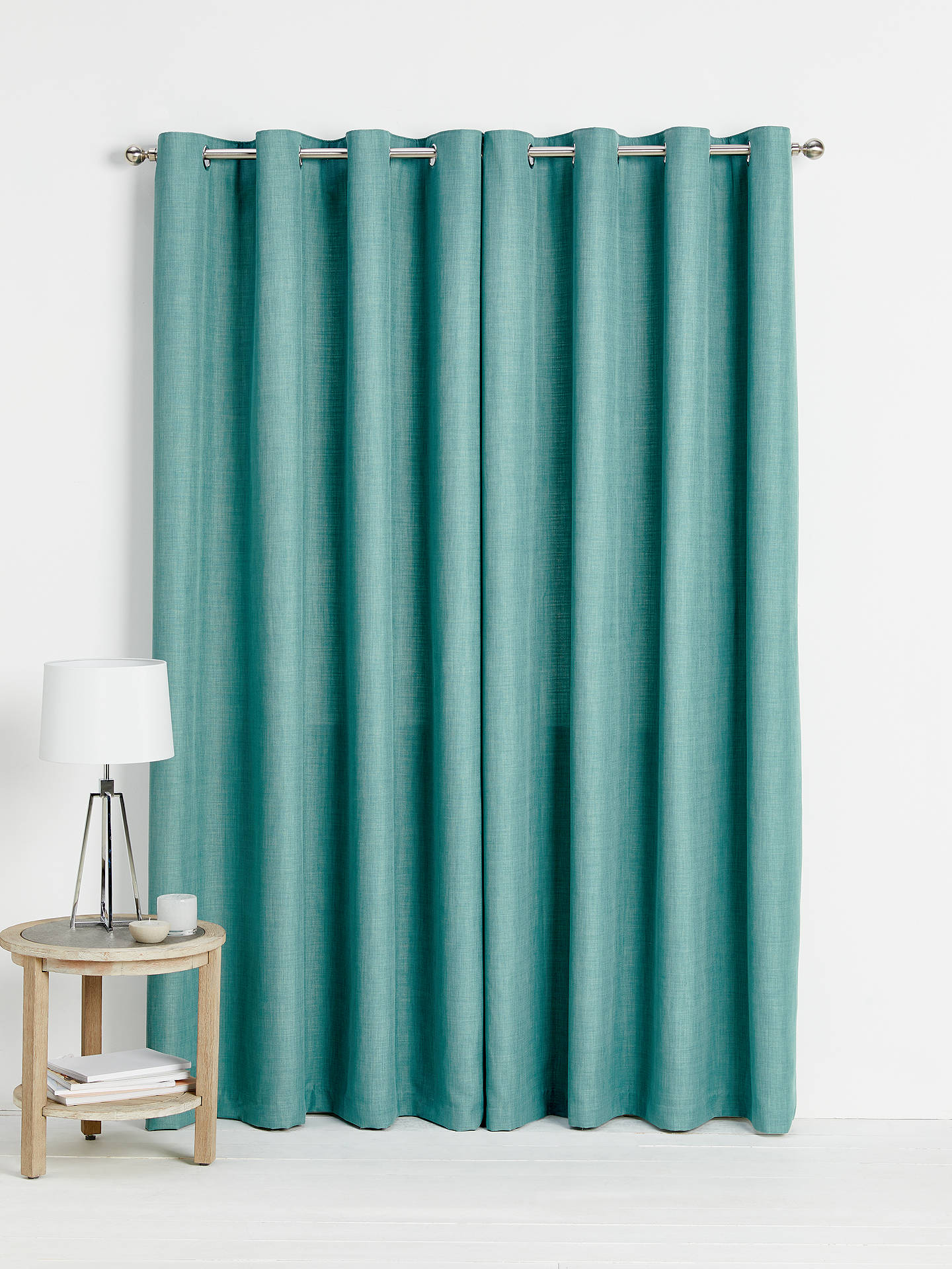 Buy John Lewis & Partners Barathea Pair Lined Eyelet Curtains, Spruce, W167 x Drop 182cm Online at johnlewis.com