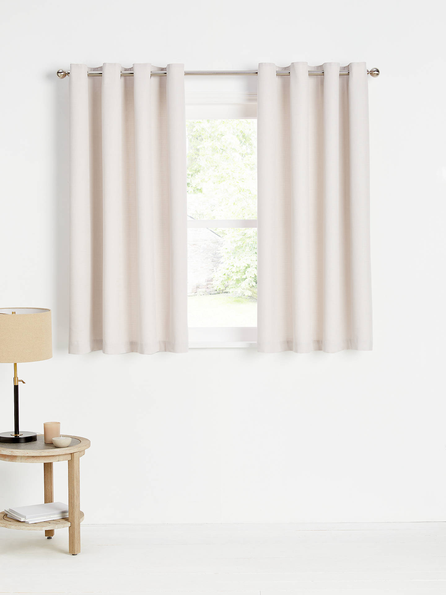 Buy John Lewis & Partners Barathea Pair Lined Eyelet Curtains, Wisteria, W228 x Drop 228cm Online at johnlewis.com