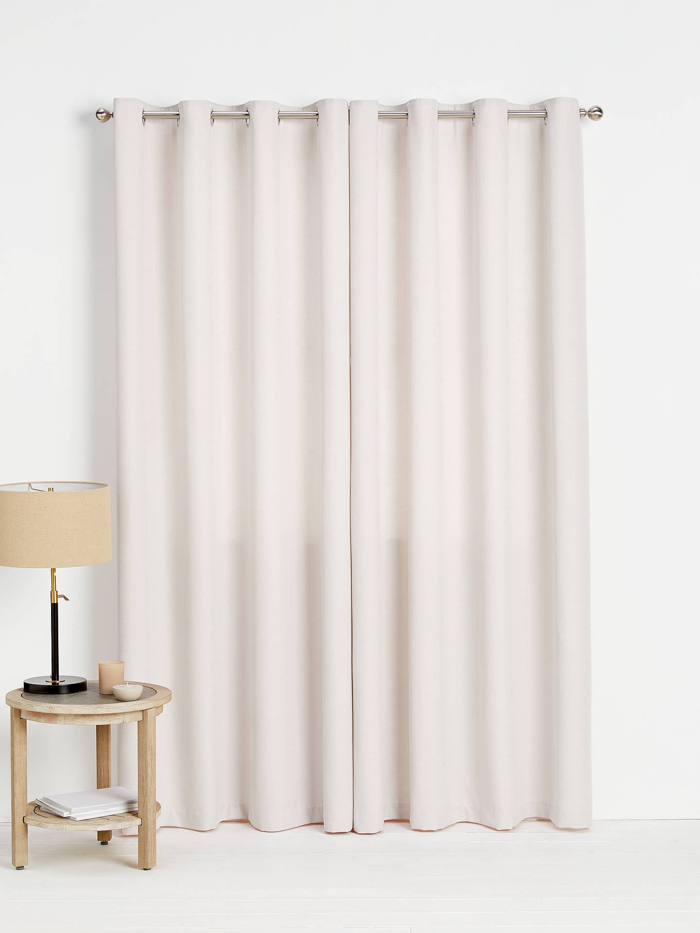 Buy John Lewis & Partners Barathea Pair Lined Eyelet Curtains, Wisteria, W167 x Drop 274cm Online at johnlewis.com