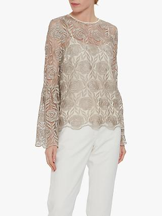 Gina Bacconi Embroidered Top, Butter Cream