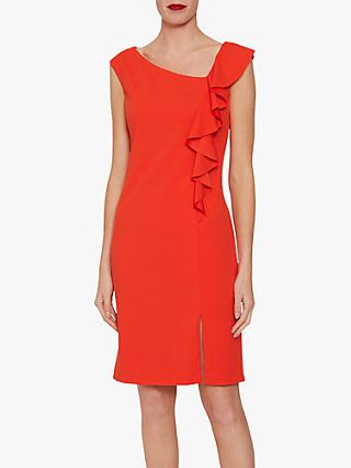 Gina Bacconi Bernita Asymmetric Frill Dress