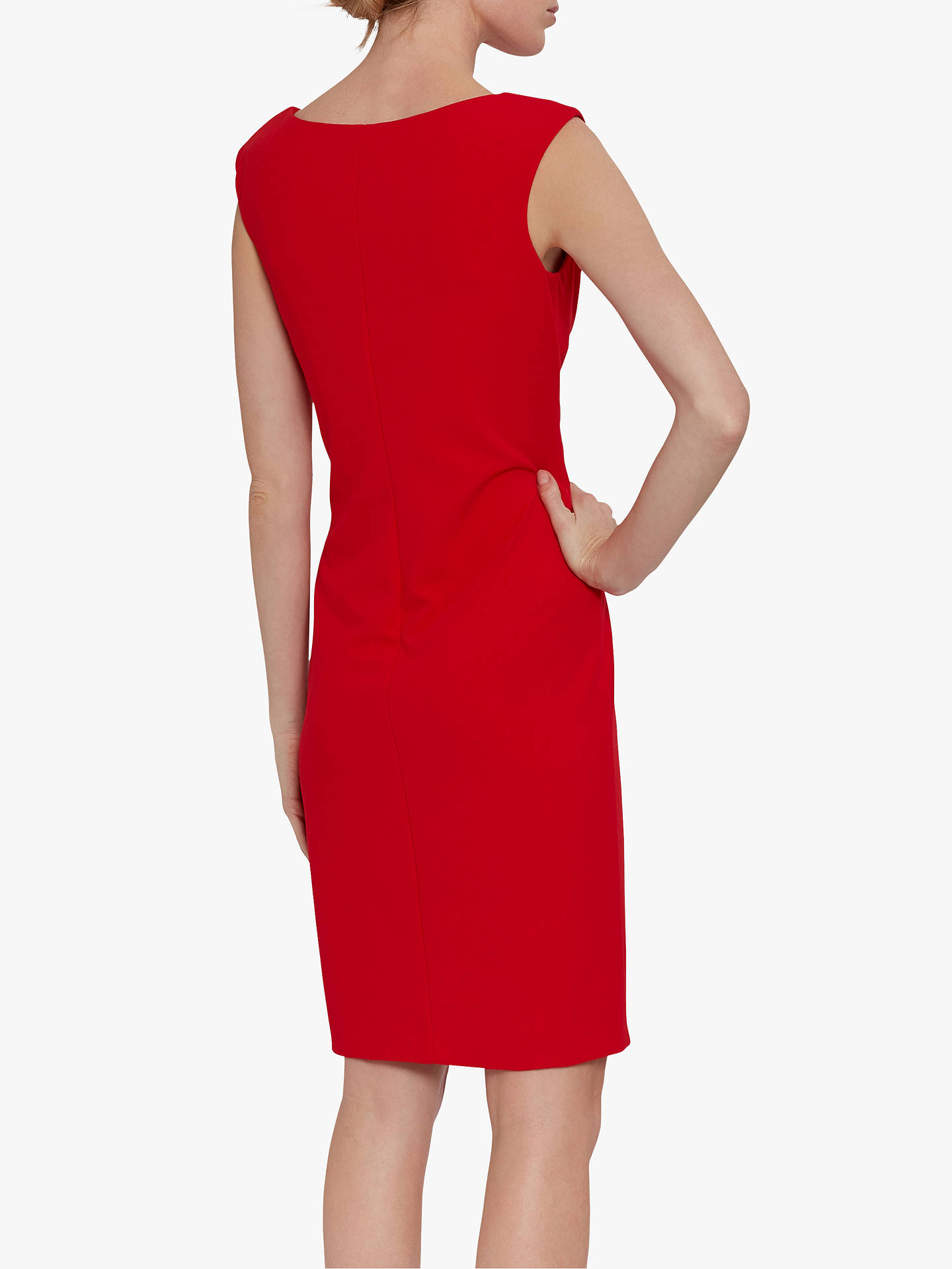 Buy Gina Bacconi Bernita Asymmetric Frill Dress, Fire Red, 16 Online at johnlewis.com