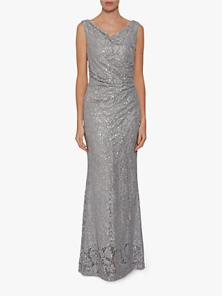 Gina Bacconi Harlene Sequin Lace Maxi Dress 3fce8622a