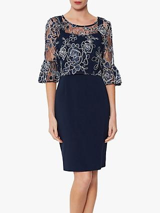 Gina Bacconi Carina Dress and Overtop, Spring Navy
