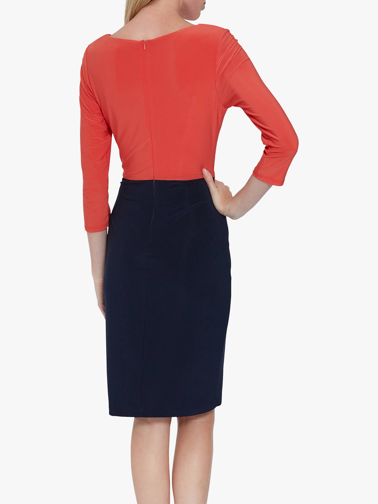 Buy Gina Bacconi Lorissa Jersey Dress, Navy/Orange, 6 Online at johnlewis.com