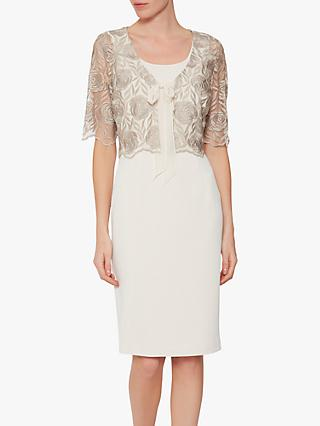 Gina Bacconi Roni Dress and Jacket, Butter Cream