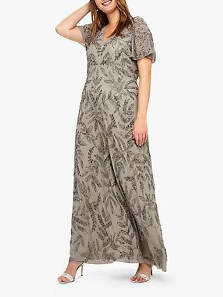 Studio 8 Guinevere Embellished Maxi Dress, Silver