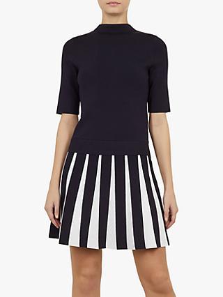 0dc18ac81cb Ted Baker Hethia Pleat Skirt Knitted Flippy Dress