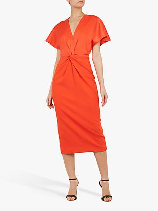 065ed37245dc2 Ted Baker Ellame Wrap Over Full Sleeve Bodycon, Orange Dark