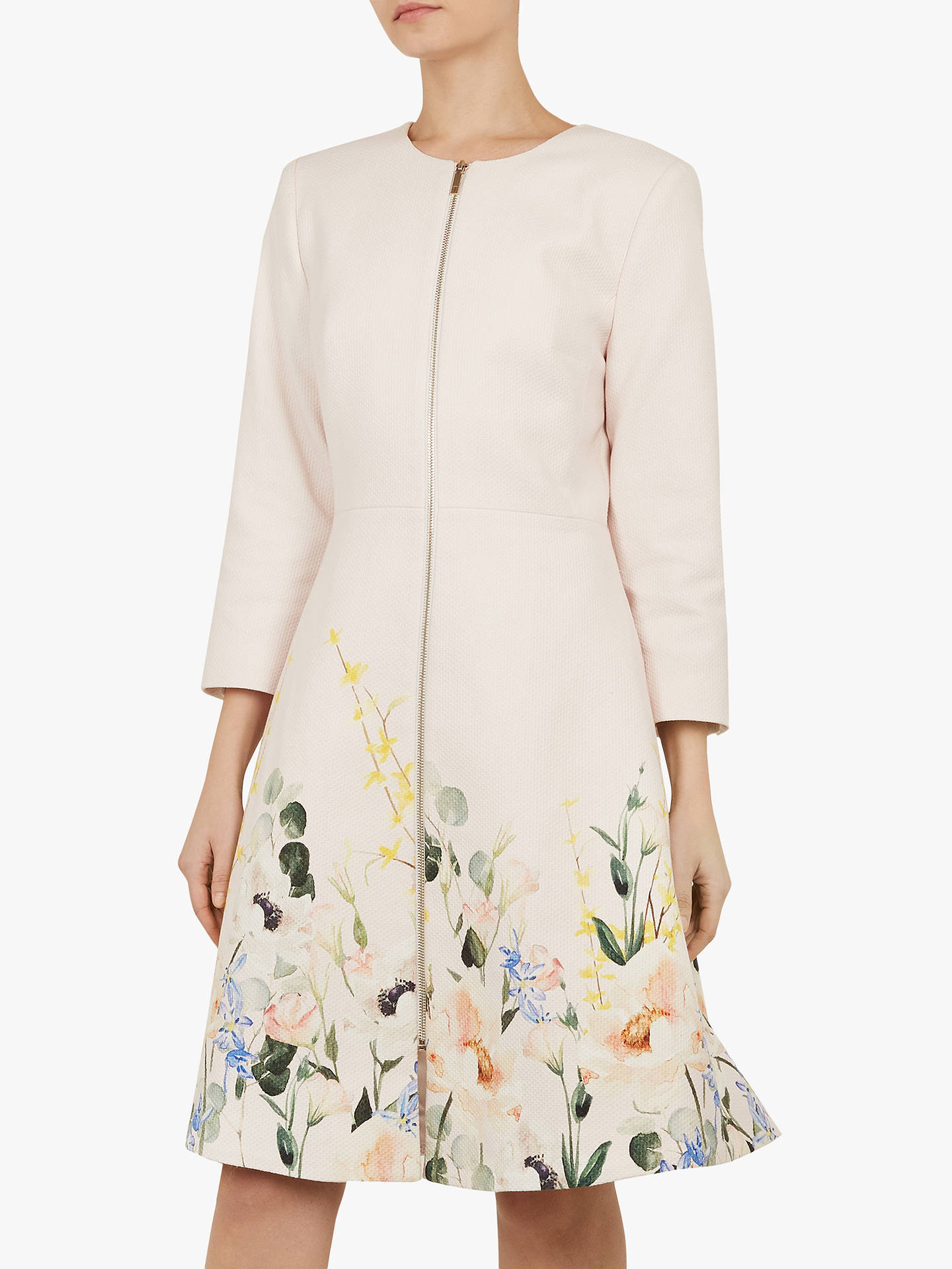 Ted Baker Luluuu Textured Dress Coat, Pink Nude by Ted Baker