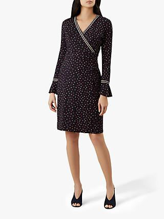 Hobbs Melanie Dress, Navy Multi
