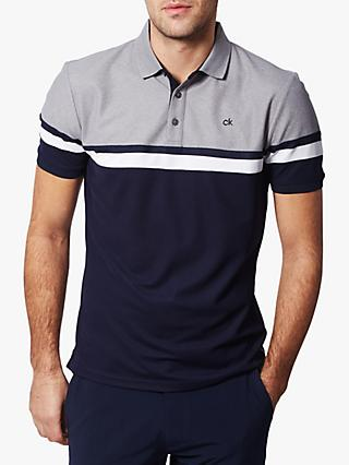 Calvin Klein Golf Pendant Polo Shirt, Navy/Grey Marl