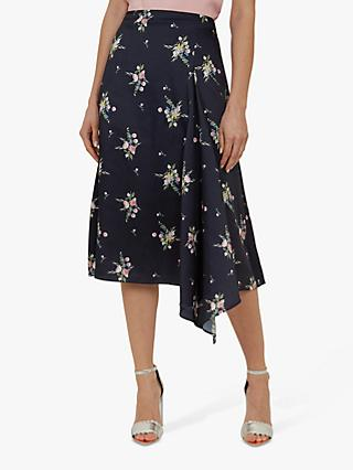 70e0b62fb16908 Ted Baker Anabell Flourish Asymmetric Midi Skirt