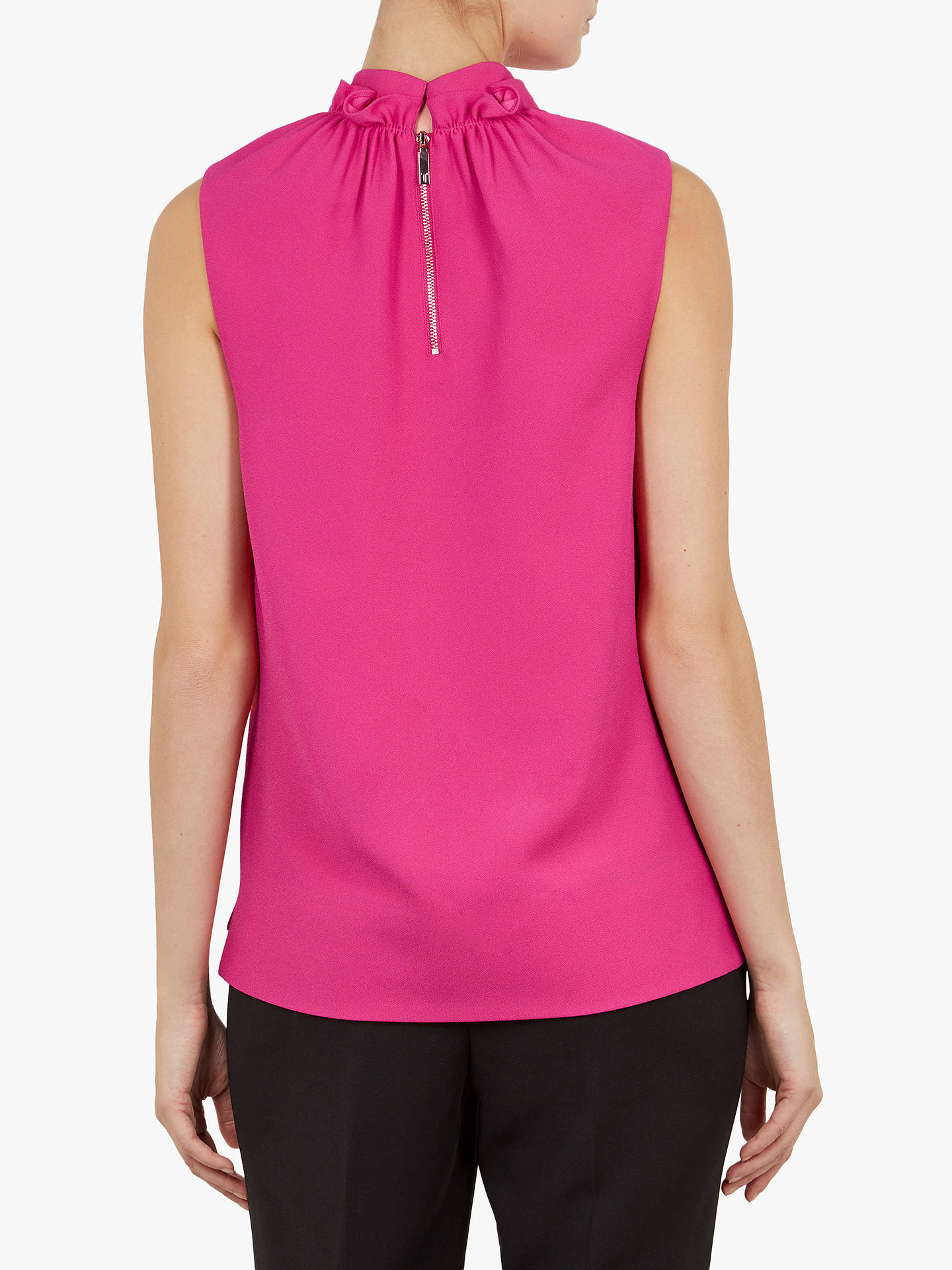 9890a99b9 ... Buy Ted Baker Audrye Ruffle Neck Sleeveless Top, Pink Mid, XL Online at  johnlewis ...