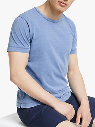 John Lewis & Partners Indigo Cotton T-Shirt
