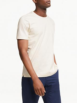 John Lewis & Partners Greige Cotton T-Shirt, Ecru