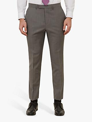 Ted Baker Whitbe Wool Tailored Suit Trousers, Grey