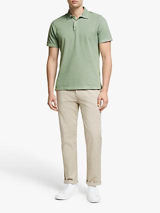 70948c2a John Lewis & Partners Garment Dye Pique Polo Shirt