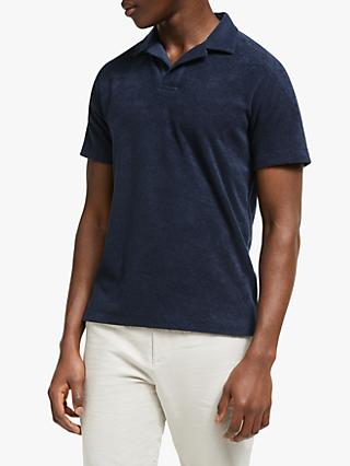 ccd015b852bb John Lewis   Partners Riviera Collar Towelling Cotton Polo Shirt