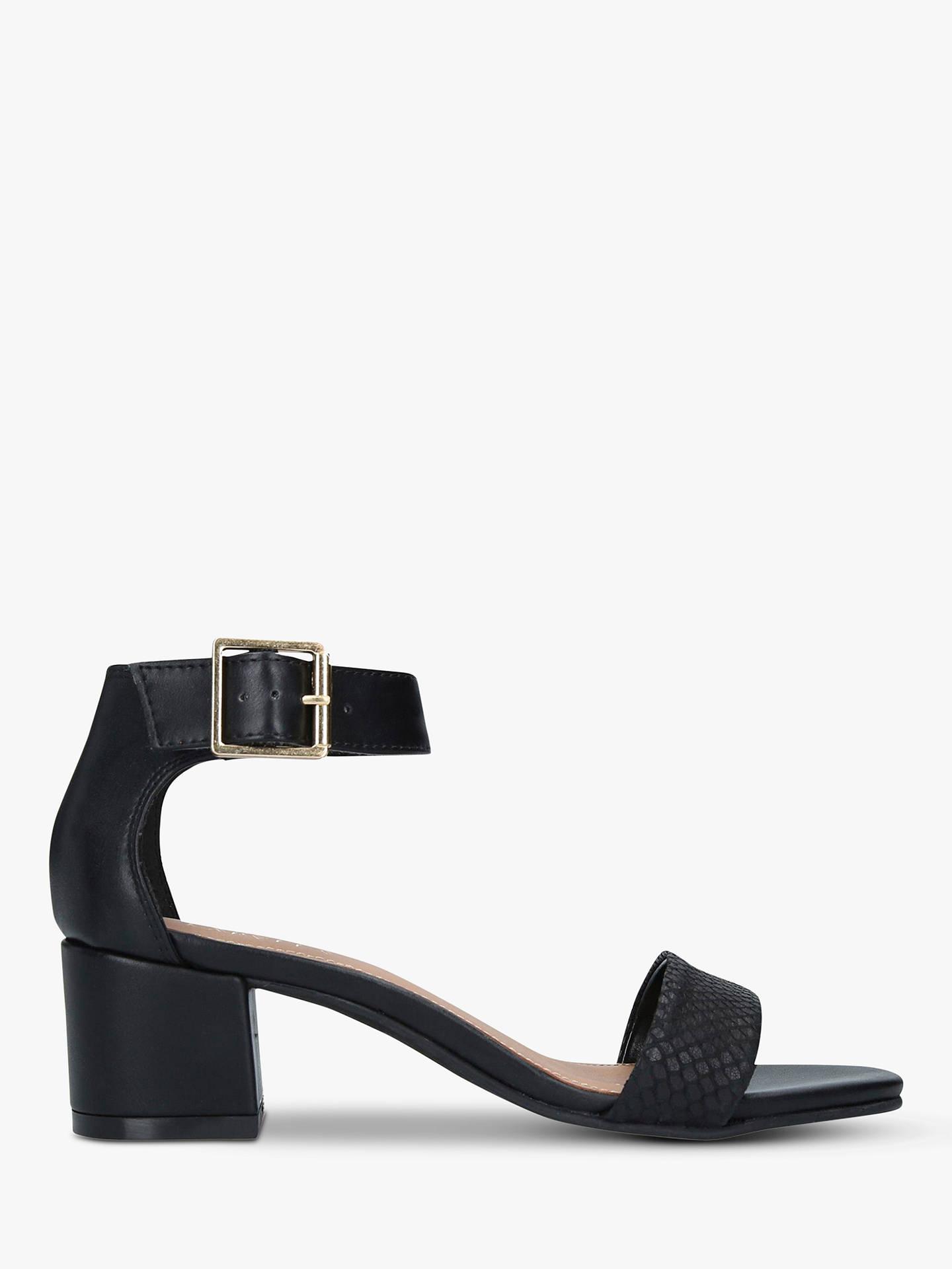 5fea91db4874 Carvela Shadow Leather Block Heel Sandals at John Lewis   Partners