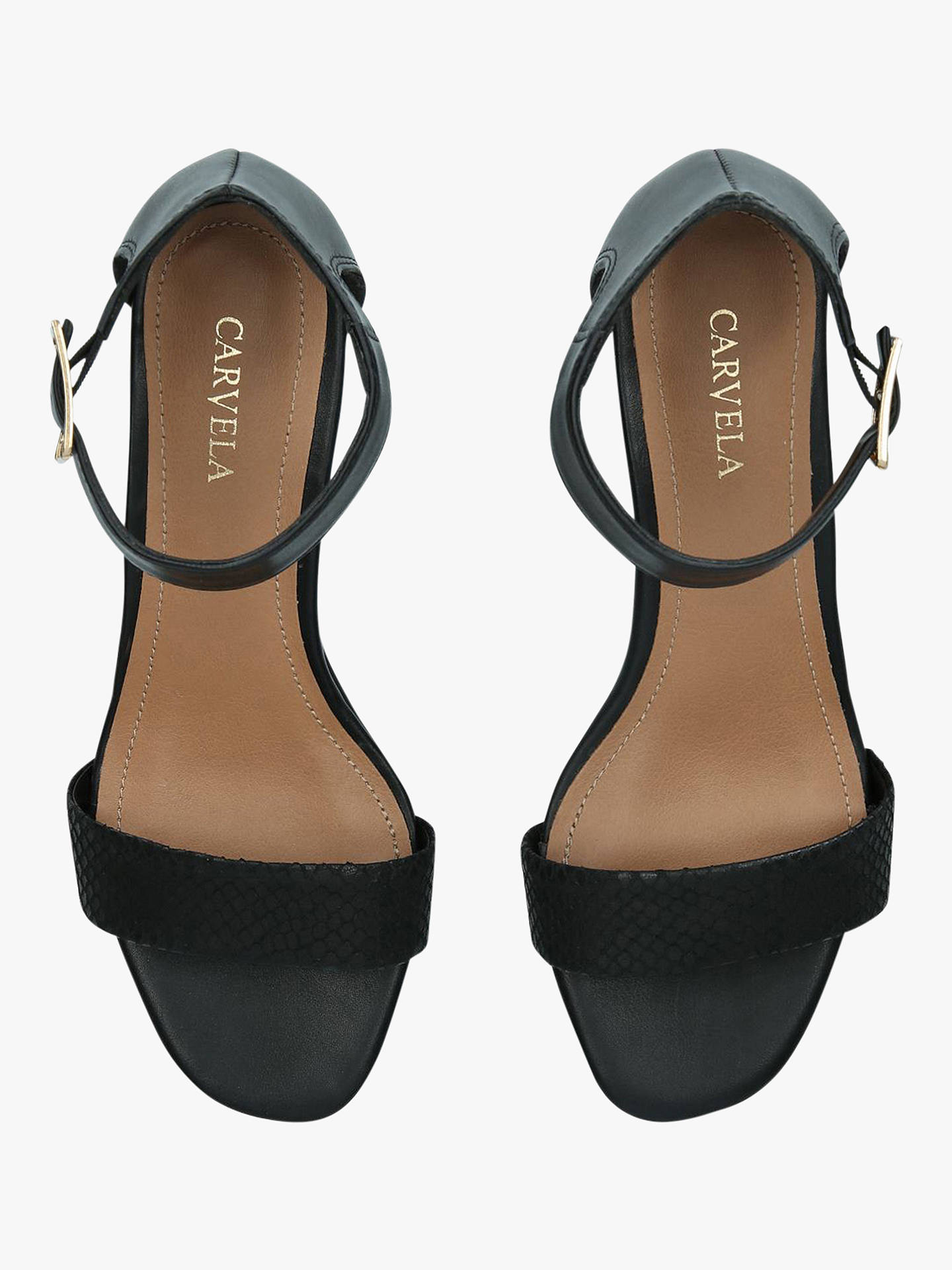 e1e53875c7a Carvela Shadow Leather Block Heel Sandals at John Lewis   Partners