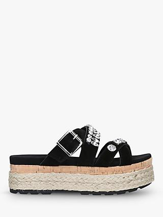 963078c5c0410 Carvela Kather Suede Flatform Slider Sandals