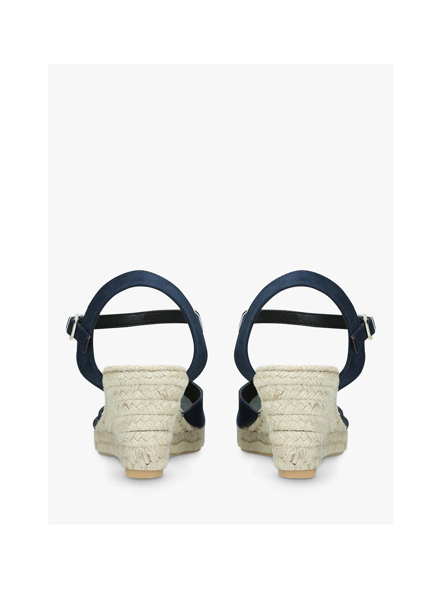 870f58defca Carvela Sabrina 2 Wedge Heel Sandals, Dark Blue at John Lewis & Partners