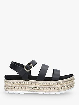 01a5f4707da87 Carvela Kite Leather Double Strap Flatform Sandals