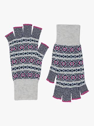 e0b7ba8e596 Brora Cashmere Fair Isle Fingerless Gloves