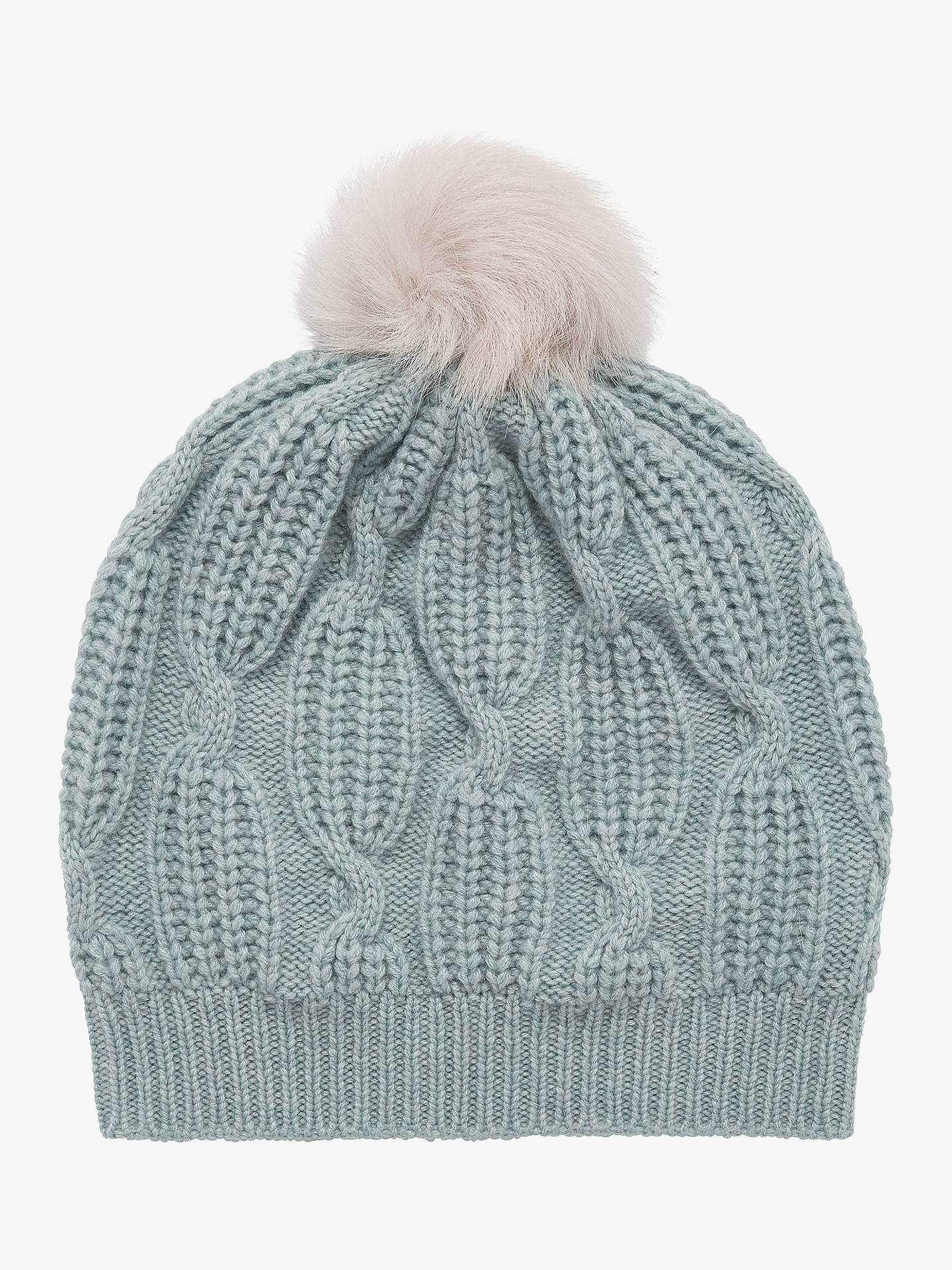 d5bcecaae9fdfd Buy Brora Cashmere Knit Pom-Pom Beanie Hat, Cloud Online at johnlewis.com  ...
