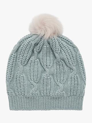 a4c10724baac4 Brora Cashmere Knit Pom-Pom Beanie Hat