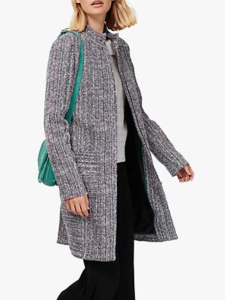 Brora Spring Tweed Coat, Anthracite