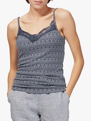 7cc2d621111250 Brora Lace Trim Textured Cami Top