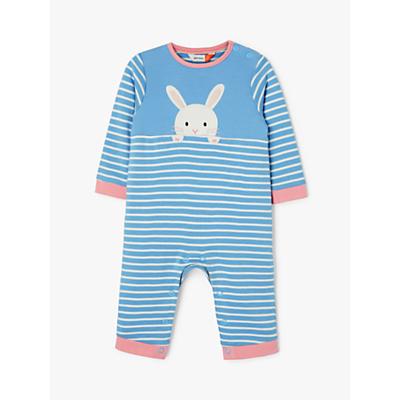 John Lewis & Partners Baby Bunny GOTS Orgnaic Cotton Romper, Blue