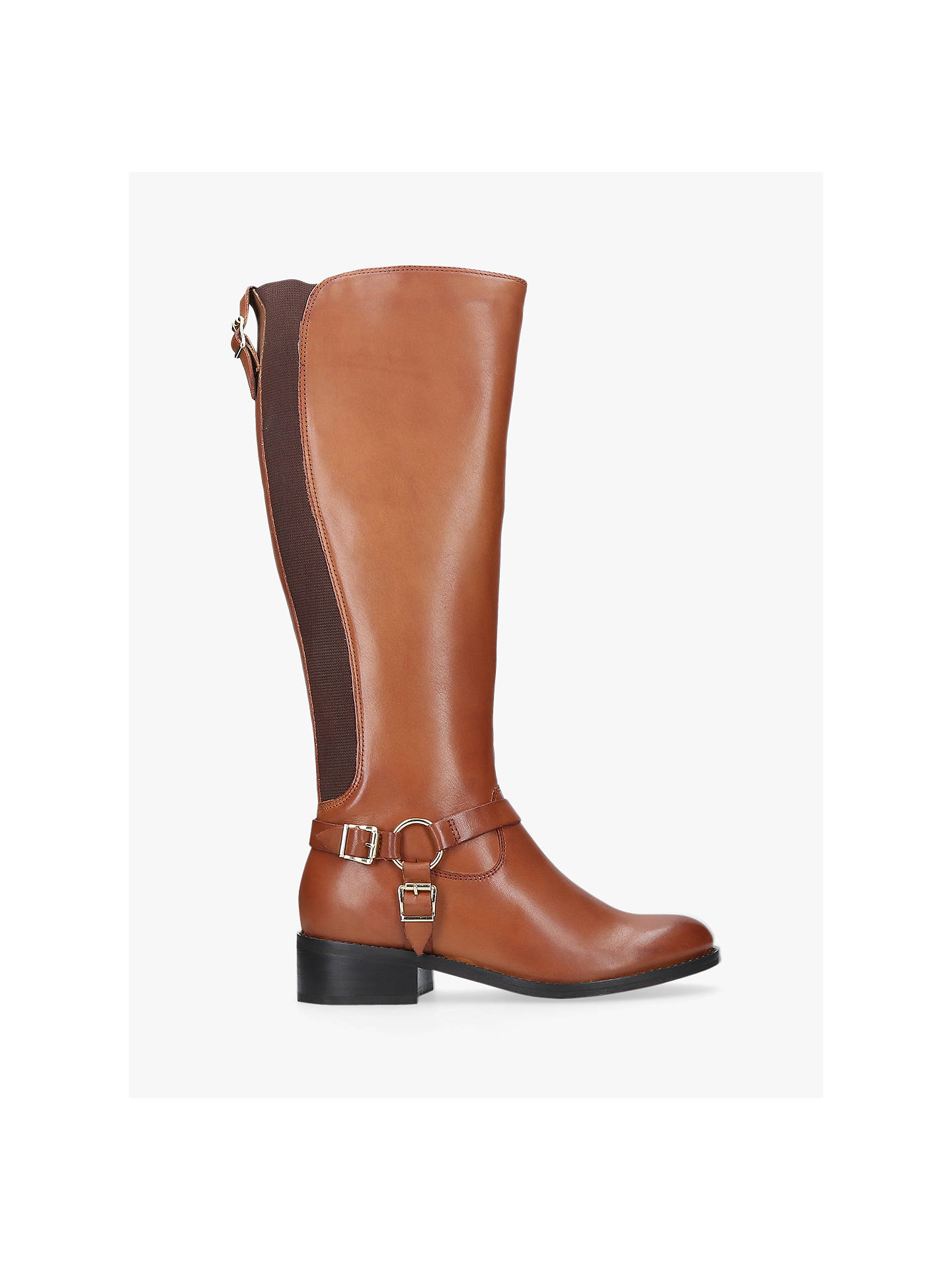 Carvela Petra Knee High Boots, Tan Leather by Carvela