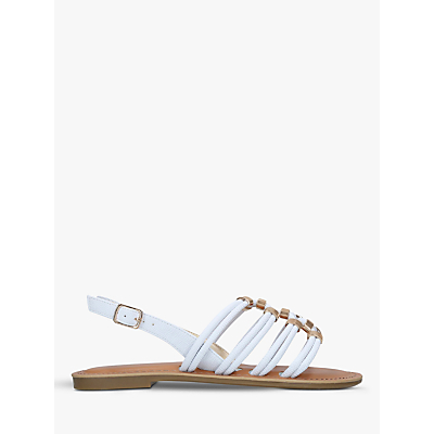 Carvela Birkby Strappy Sandals, White
