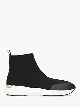 Carvela Jibberish Fabric Slip-On Sock Trainers, Black