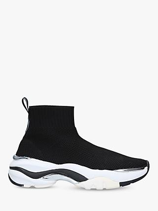 Carvela Lock Knitted Chunky Sock Trainers, Black