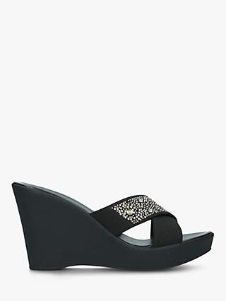 Carvela Selina Cross Strap Slide On Wedge Sandals