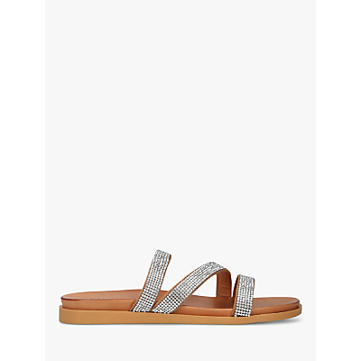 Carvela Comfort Sahara Leather Flat Embellished Sandals
