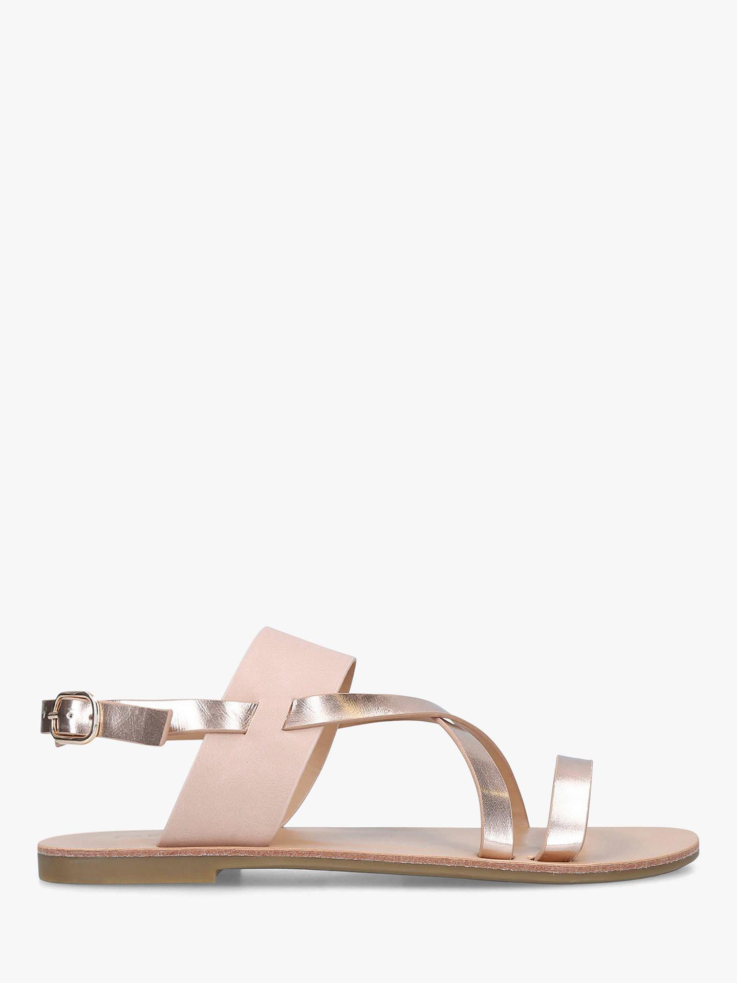8fde98143 Buy Carvela Brink Strappy Flat Sandals, Pink, 3 Online at johnlewis.com ...