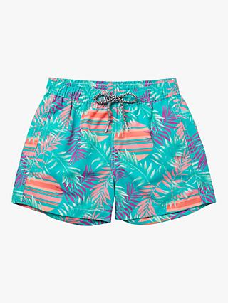 Boardies Rising Palm Print Swim Shorts, Multi