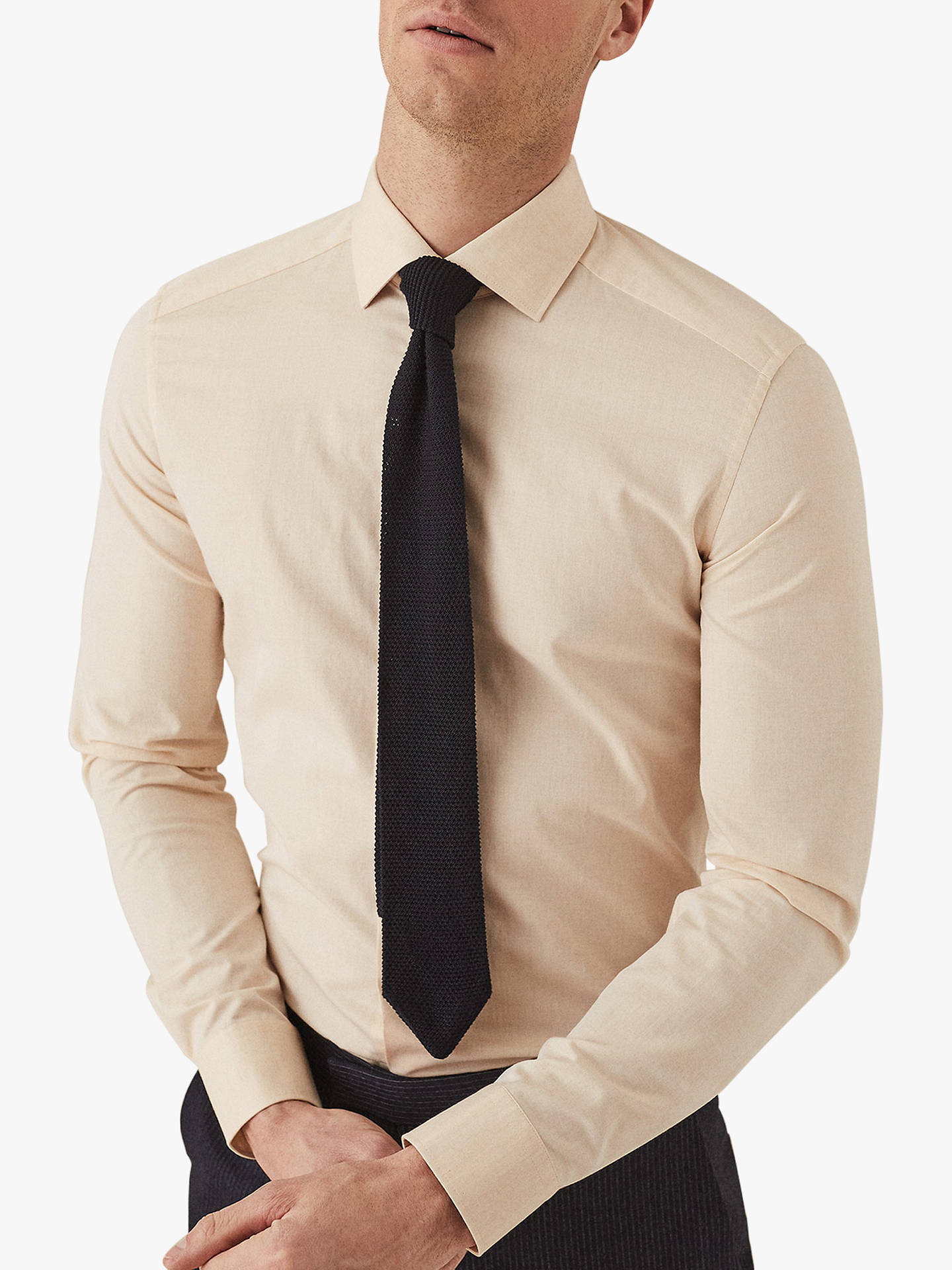 916f8f902 Buy Reiss Irving Cotton Slim Fit Shirt, Yellow, XS Online at johnlewis.com  ...