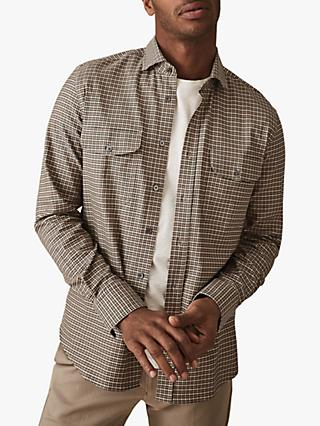 9daee74857dc63 Reiss Towns Gingham Overshirt