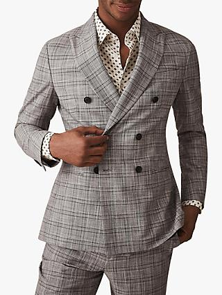 Reiss Ned Tailored Check Suit Jacket, Grey