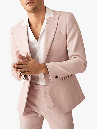 Reiss Melody Peak Lapel Slim Fit Suit Jacket, Soft Pink